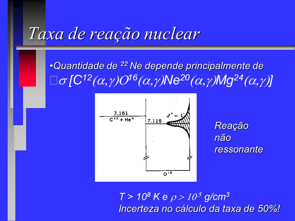 Taxa de reação nuclear s [C12(a,g)O16(a,g)Ne20(a,g)Mg24(a,g)]